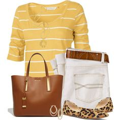 Striped Shirt and Jeans, created by daiscat on Polyvore