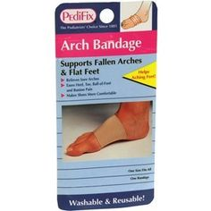 PEDIFIX ARCH BANDAGE P60 1 EACH by PEDIFIX INC. *****. $5.49. Reduces pressure on bunions -- big and little toe. Actual product packaging and materials may contain more and different information than what is shown on our website. We recommend that you do not rely solely on the information presented and that you always read labels, warnings, and directions before using or consuming a product. Supports weak, flat, & fallen arches. Helps relieve pain from heel spu...