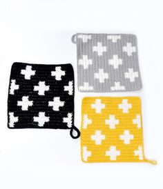 pretty potholders for sale - no pattern but it should be easy
