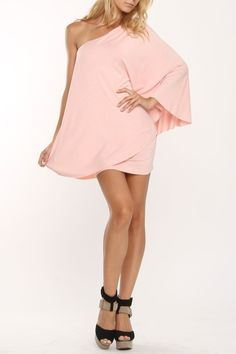 BLQ.MKT Fiona One Sleeve Top In Light Pink