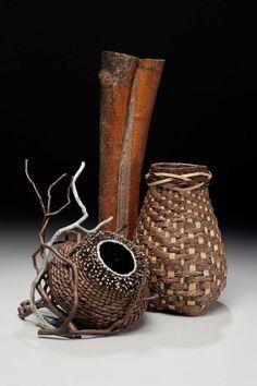 www.matttommey.com  Sculptural Art Baskets by Matt Tommey made from kudzu, poplar bark, mimosa, royal paulonia, laurel branches and encaustic wax.