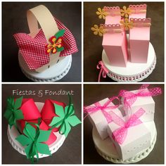 Peppa Pig candy table favor boxes by Fiestas & Fondant