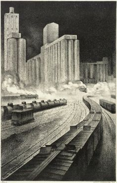 Art Deco Litographies by Louis Lozowick (5)