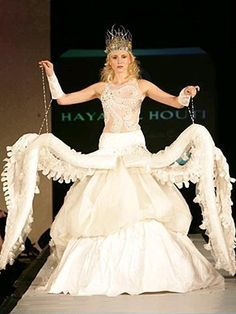 Ursula-inspired wedding dress. I'll entertain the notion of wearing this as the result of a lost bet.