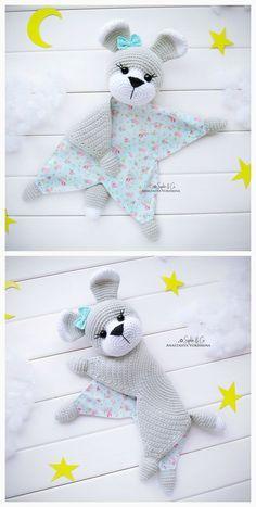Best 11 Free Amigurumi Doll And Animal Crochet Patterns – SkillOfKing. Crochet Security Blanket, Crochet Lovey, Baby Security Blanket, Cotton Crochet, Lovey Blanket, Crochet Animal Patterns, Crochet Patterns Amigurumi, Crochet Blanket Patterns, Baby Patterns