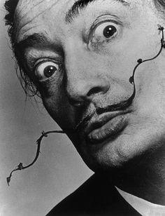 Philippe HALSMAN :: Salvador DALI's mustache, 1954