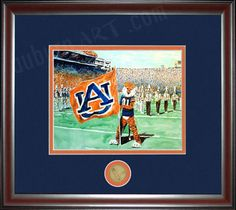 Halftime with Aubie from Auburn Art.  This is available on a canvas which I prefer to the framed version.