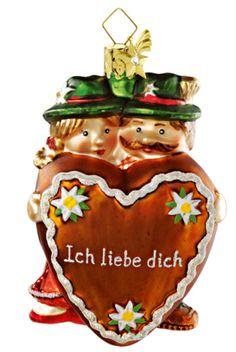 Bayerisches Paar mit Herz