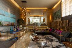 Casa³ : Salas de estar modernas por Denise Barretto Arquitetura