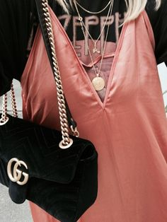 Silk | Top | Band tee | Zappelin | Gucci bag | Streetstyle | More on Fashionchick.nl