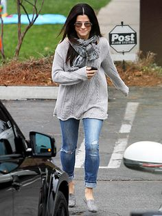 Sandra Bullock - want this outfit and to wear it or something like it every day!