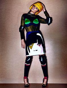 sporty glam chris nicholls8 Track & Heeled: Kristen M Gets Sporty for Chris Nicholls in Fashion