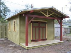 highlights from 2012 historic shed projects garages outdoor living storage ideas Custom Craftsman Bungalow shed with a 4 porch extension Craftsman Sheds, Craftsman Bungalows, Craftsman Style, Craftsman Homes, Modern Craftsman, Porch Extension, Seminole Heights, Custom Sheds, Firewood Shed