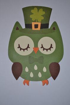 Cricut, St Patrick's Day Owl. Create a Critter Cartridge. *
