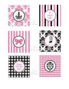 Eloise Party Cupcake Toppers by WhenIWasYourAge on Etsy