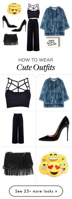 """""""outfit #267"""" by melba-bizaku on Polyvore featuring Être Cécile, Christian Louboutin, White House Black Market and Marni"""