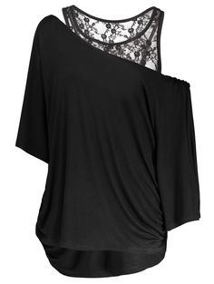 SHARE & Get it FREE | Slit Sleeve Tee and Lace Tank TopFor Fashion Lovers only:80,000+ Items • New Arrivals Daily • Affordable Casual to Chic for Every Occasion Join Sammydress: Get YOUR $50 NOW!