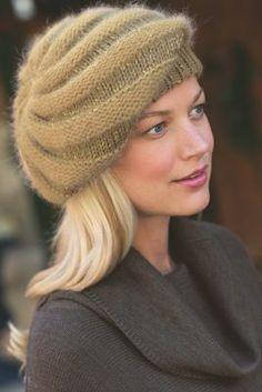 Resultado de imagem para how to knit beret hats Loom Knitting, Knitting Stitches, Baby Knitting, Sombrero A Crochet, Knit Crochet, Crochet Hats, Knitted Beret, Cute Hats, Knitting Accessories