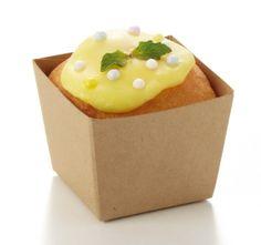BT51・クラフトキューブ・茶無地・50枚・・パウンドケーキ・パウンドトレー・ベーキングトレー・紙製・パウンド型・お菓子・手作り・製菓用品