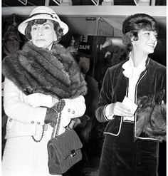 Coco Chanel with 2.44 Bag