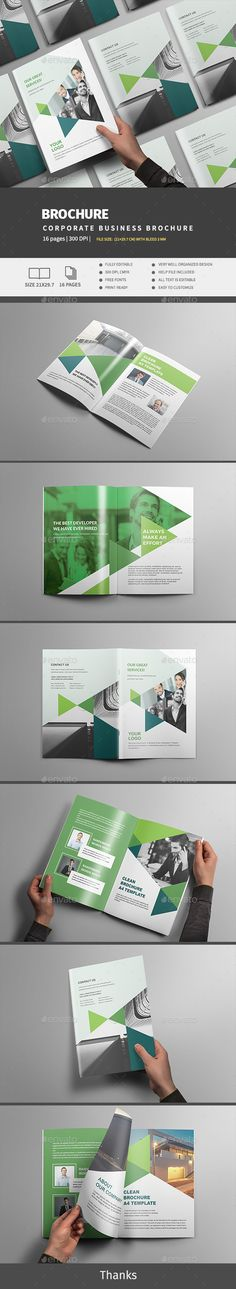 Corporate Business Brochure — InDesign INDD #clean #logo • Download ➝ https://graphicriver.net/item/corporate-business-brochure/19212096?ref=pxcr
