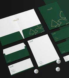 Thurso on Behance Corporate Identity Design, Brand Identity Design, Branding Design, Visual Identity, Personal Identity, Identity Branding, Letterhead Design Inspiration, Packaging Design Inspiration, Stationary Branding
