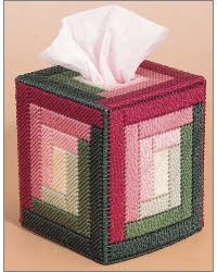 Log Cabin Delight...not a free pattern, but it would be easy to do