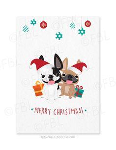 Bulldog santa recycled paper greetings christmas card recycle paper m4hsunfo