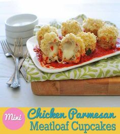 Mini Chicken Parmesan Meatloaf Cupcakes – Good Things Come in Small Packages | Grocery Eats