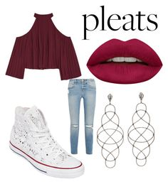 Pleats by ellaboo0473 on Polyvore featuring polyvore, fashion, style, W118 by Walter Baker, Frame, Converse, Huda Beauty and clothing