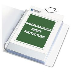 C-Line Polypropylene Top Load Sheet Protectors with Colored Edges ...