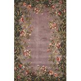 Found it at Wayfair - Emerald Lavender Garden Rug Just love this rug - not practical with dogs, but just love it!
