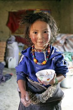 Tibetan nomad girl. Tsatsa, eastern Tibet, 2005. photo by Matthieu Ricard.  Of the many images of children I pinned on another board, one of my favorites. She may be my favorite of all.