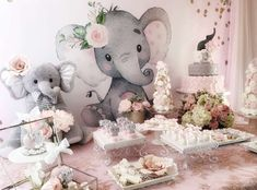 Baby Elephant Baby Shower Party Ideas | Photo 1 of 16