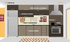 Desenhei minha cozinha | de apê novo