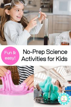 Rather than skip science altogether, why not try these no-prep science experiments that require basic supplies that you probably already have at home! Science Experiment Kits, Easy Science Experiments, Stem Science, Science Kits, Science For Kids, Science Activities, Activities For Kids, Easy Science Projects, Science Demonstrations