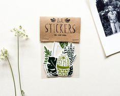 'House Plant' Sticker Set