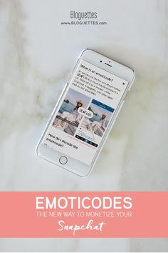 Did you know that there's now a way to monetize your Snapchat? We're sharing how to use the Emoticode App to link you Snapchats to your products, blog posts, and other links. #snapchat