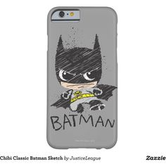 Chibi Classic Batman Sketch Barely There iPhone 6 Case (£28) ❤ liked on Polyvore featuring accessories and tech accessories