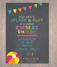 Pool+Birthday+Party+Pool+Party+Birthday+by+Onthegoprints+on+Etsy,+$9.00