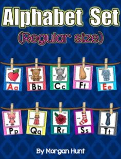 No classroom is complete without an Alphabet Set! This set perfectly matches my other Quatrefoil products. Includes matching Word Wall Cards. $