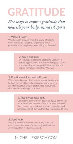 5 Ways to Express Gratitude that Nourish your Body, Min & Spirit.