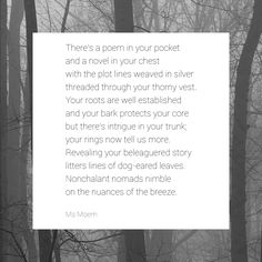 There's A Poem In Your Pocket ~ a poem written by Ms Moem @msmoem