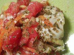 Filetes com Legumes no Forno