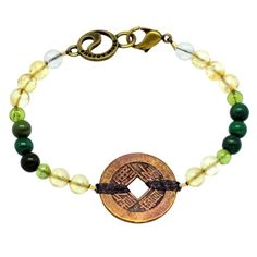 I have this Life Force Bracelet Energizing, Rejuvenating, Optimism description Foreign Coins, Copper Penny, Coin Jewelry, Optimism, My Style, Bracelets, Life, Art, Products