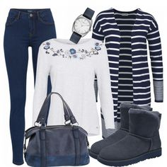 Herbst-Outfits: BlueandWhite bei FrauenOutfits.de