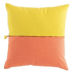 Tulip 1 Yellow/Coral B45xL45 cm Decore 23833280 kika.at Coral And Gold, Color Shades, Montage, Color Combos, Tulips, Throw Pillows, Yellow, Change, Decor