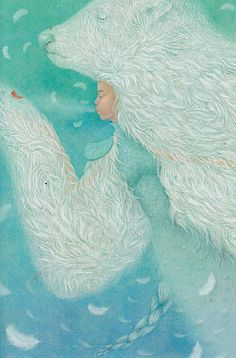 Made by: Galia Zinko - (Polar bear suit on girl) Really beautiful