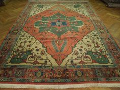 Antique Wool Oriental Rug Extra Large Size