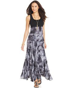 Karen Kane Sleeveless Tie-Dyed Maxi Dress - Dresses - Women - Macy's